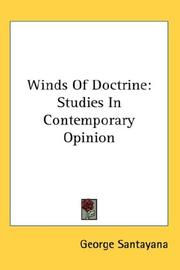 Cover of: Winds Of Doctrine | George Santayana
