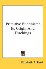 Cover of: Primitive Buddhism | Elizabeth A. Reed