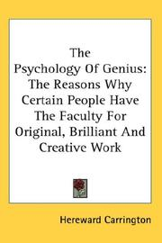 Cover of: The Psychology Of Genius