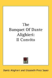 Cover of: The Banquet Of Dante Alighieri