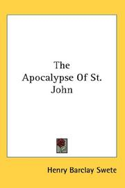 Cover of: The Apocalypse Of St. John