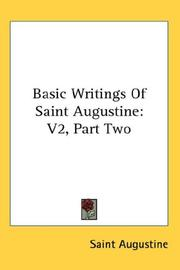 Cover of: Basic Writings Of Saint Augustine