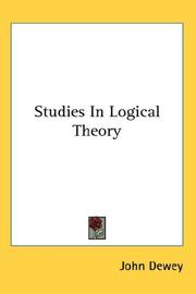 Cover of: Studies in logical theory