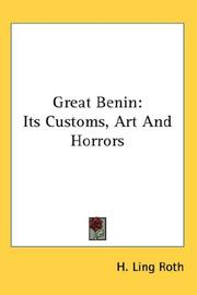 Cover of: Great Benin | H. Ling Roth