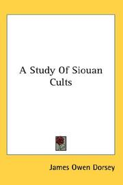 Cover of: Study of Siouan Cults