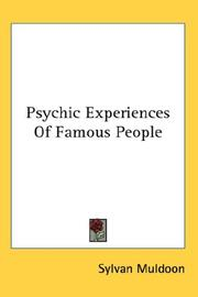 Cover of: Psychic Experiences Of Famous People