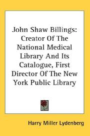 Cover of: John Shaw Billings