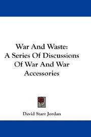 Cover of: War And Waste