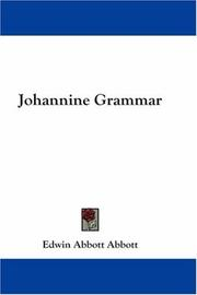 Cover of: Johannine Grammar