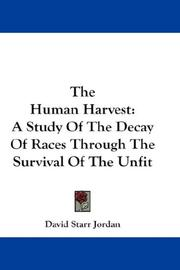 Cover of: The Human Harvest