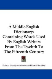 A Middle-English dictionary by Francis Henry Stratmann