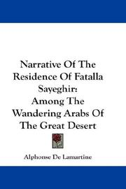 Cover of: Narrative Of The Residence Of Fatalla Sayeghir