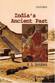 Cover of: India's Ancient Past
