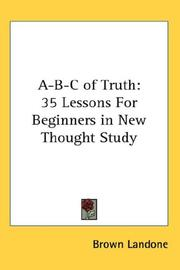 Cover of: A-B-C of Truth | Brown Landone