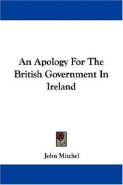 Cover of: An apology for the British government in Ireland