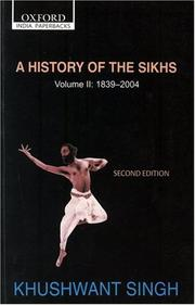 A History of the Sikhs: Volume 2