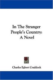 Cover of: In The Stranger People's Country