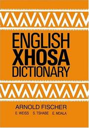 Cover of: English-Xhosa dictionary | Fischer, A.
