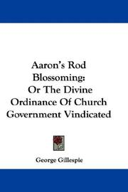 Cover of: Aaron's Rod Blossoming