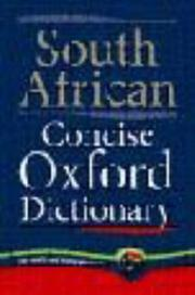 Cover of: South African concise Oxford dictionary |