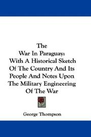 Cover of: The War In Paraguay | George Thompson