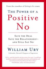 Cover of: The Power of a Positive No