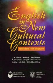 Cover of: English in New Cultural Contexts | J. A. Foley