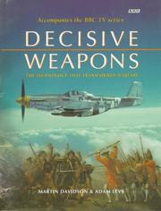 Cover of: Decisive weapons | Martin P. Davidson