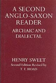 Cover of: A second Anglo-Saxon reader: archaic and dialectal.