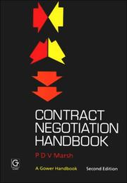 Cover of: Contract negotiation handbook