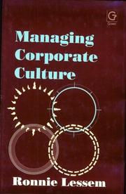 Cover of: Managing corporate culture