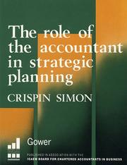 Cover of: The role of the accountant in strategic planning