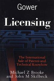 Cover of: Licensing