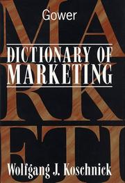 Cover of: Dictionary of marketing