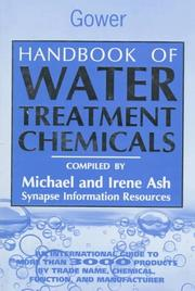 Cover of: Handbook of water treatment chemicals