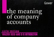 Cover of: meaning of company accounts | Walter Reid