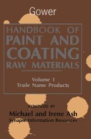 Cover of: Handbook of paint and coating raw materials