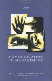 Cover of: Communication in management | Owen Hargie