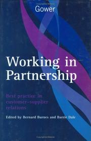 Cover of: Working in partnership