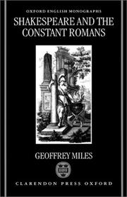 Cover of: Shakespeare and the constant Romans