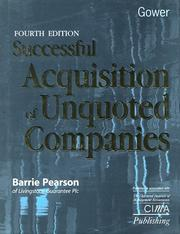 Cover of: Successful acquisition of unquoted companies | Barrie Pearson