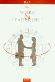 Cover of: RSA on work and leadership |