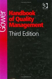 Cover of: Gower Handbook of Quality Management | Matt Seaver