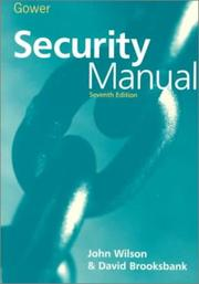 Cover of: Security manual
