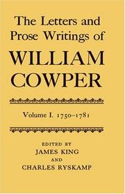 Cover of: The letters and prose writings of William Cowper