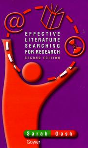 Cover of: Effective literature searching for research