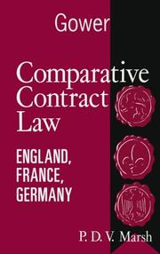 Cover of: Comparative contract law