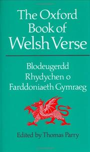 Cover of: Oxford Book of Welsh Verse in English
