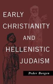 Cover of: Early Christianity & Hellenistic Judaism