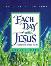 Cover of: Each day with Jesus | Rudolph F. Norden